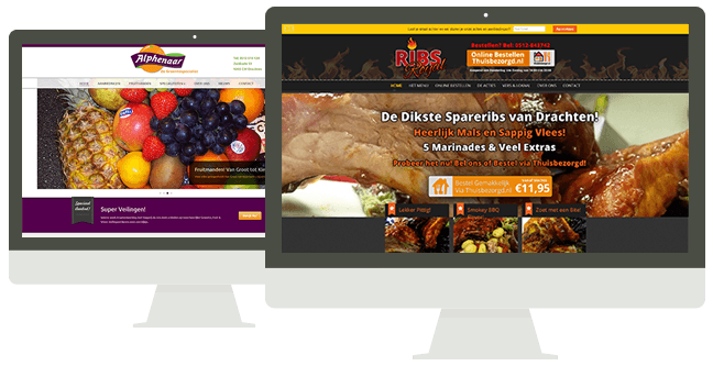 Websites Alphenaar en Ribs Royal